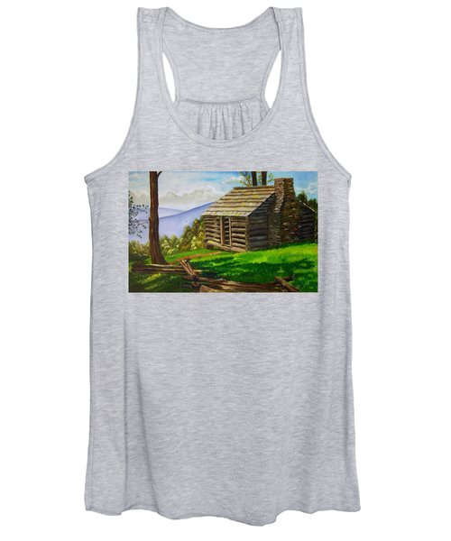 Lunch At An Old Cabin In The Blue Ridge Women's Tank Top