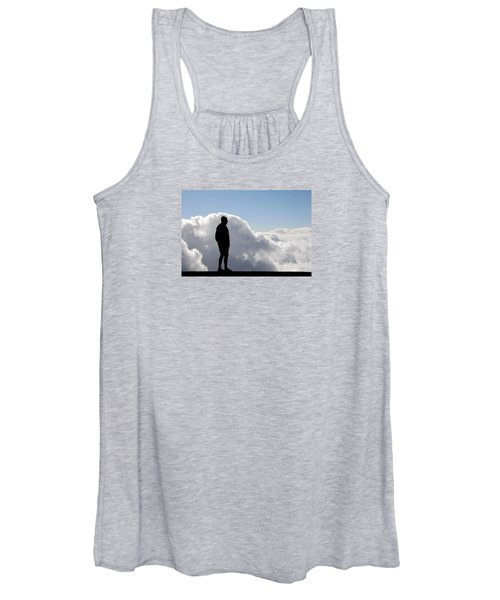 Man In The Clouds Women's Tank Top