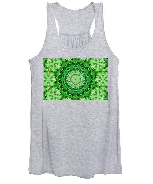 Marijuana Kaleidoscope Poster Women's Tank Top
