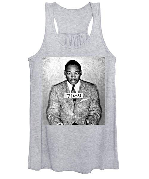 Martin Luther King Mugshot Women's Tank Top