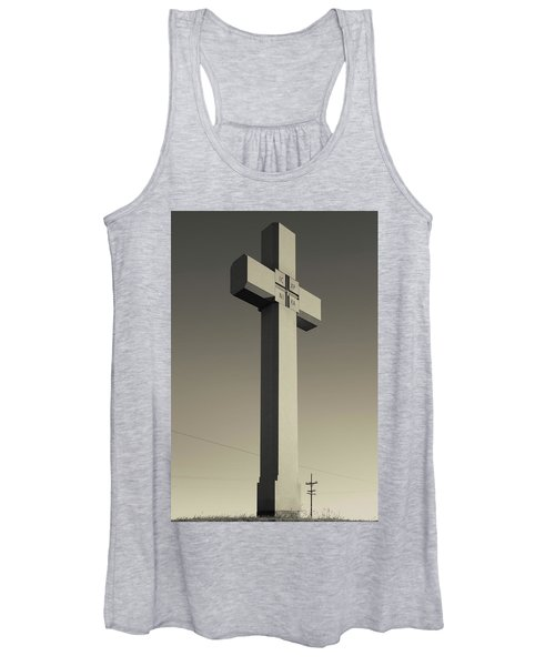 Memorial Cross To Spanish Father Juan Women's Tank Top