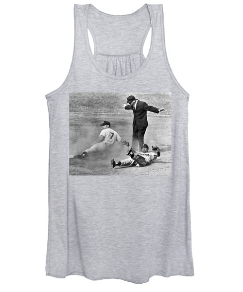 Mickey Mantle Steals Second Women's Tank Top