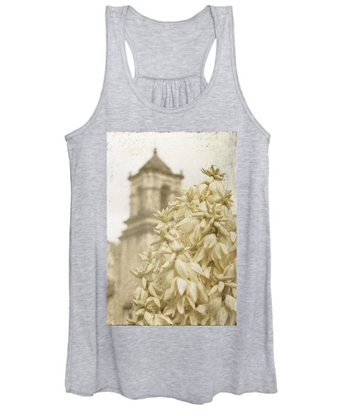 Mission San Jose And Blooming Yucca Women's Tank Top