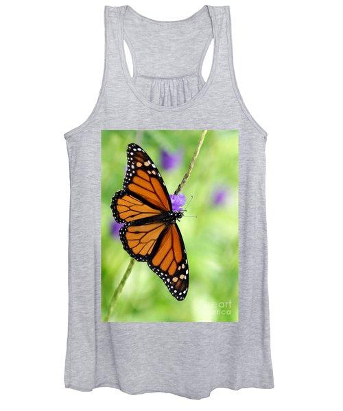 Monarch Butterfly In Spring Women's Tank Top