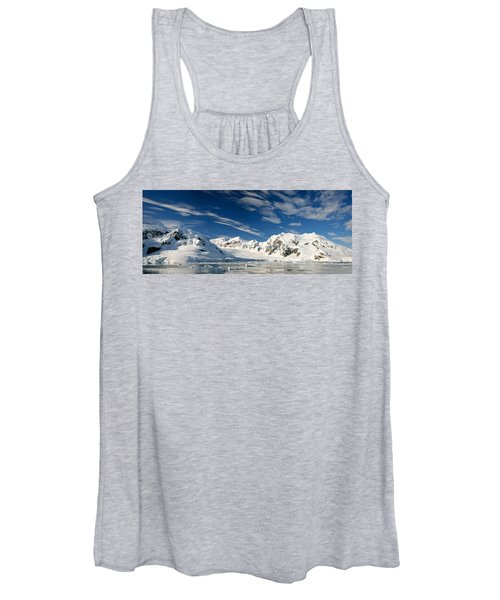 Mountains And Glaciers, Paradise Bay Women's Tank Top