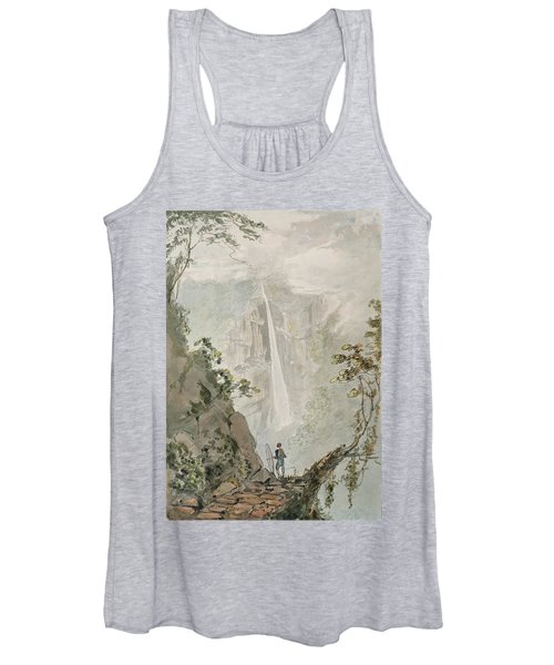 Murichom To Choka, 1783 Wc With Pen & Ink Over Graphite On Paper Women's Tank Top