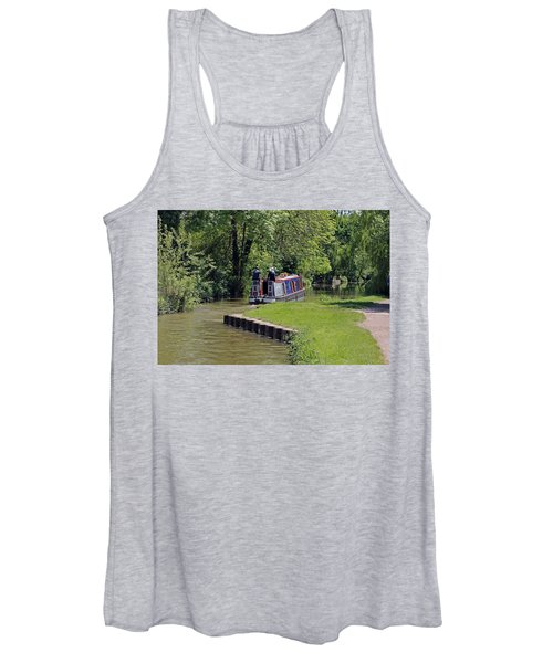Narrowboat On Oxford Canal Women's Tank Top