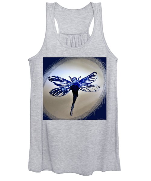 Navy Dragonfly Alcohol Inks  Women's Tank Top
