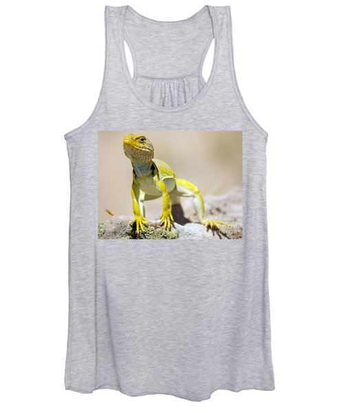 New Photographic Art Print For Sale Yellow Lizard Ghost Ranch New Mexico Women's Tank Top