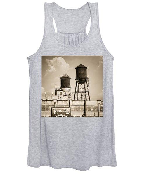 New York Water Tower 8 - Williamsburg Brooklyn Women's Tank Top