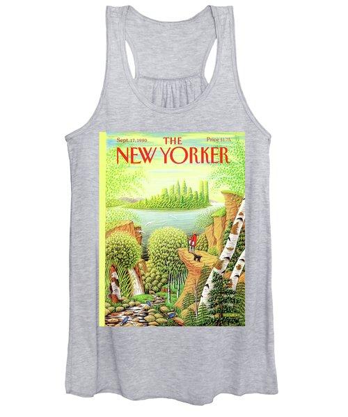 Green New York Women's Tank Top