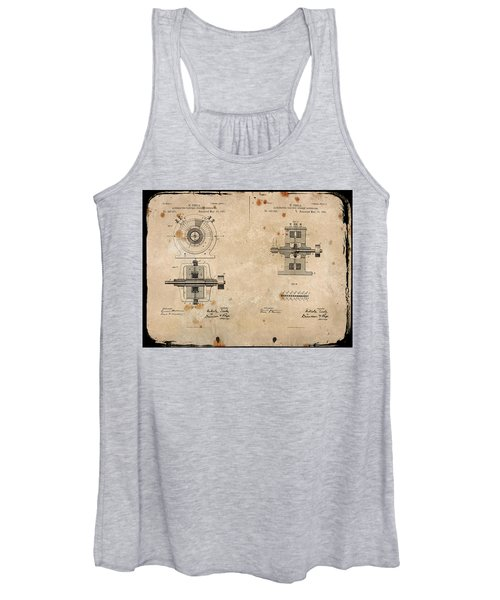 Nikola Tesla's Alternating Current Generator Patent 1891 Women's Tank Top