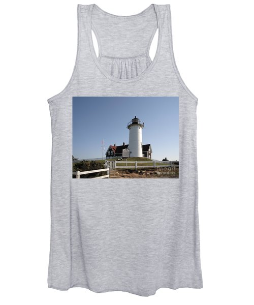 Nobska Lighthouse On Cape Cod At Woods Hole Massachusetts Women's Tank Top