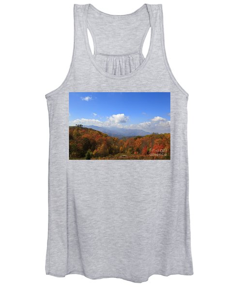 North Carolina Mountains In The Fall Women's Tank Top