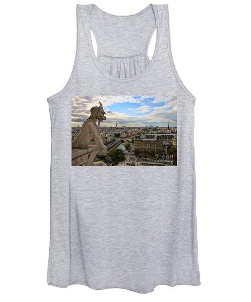 Notre Dame Gargoyle Women's Tank Top