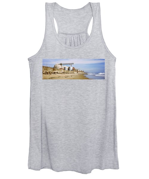 Nuclear Power Plant On The Beach, San Women's Tank Top