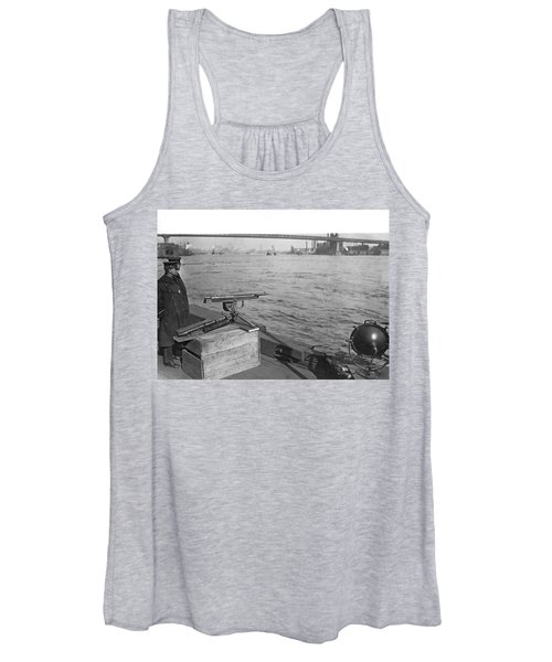 Nyc Prohibition Police Boat Women's Tank Top