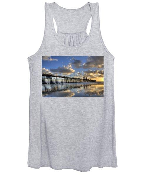 Oceanside Pier Sunset Reflection Women's Tank Top