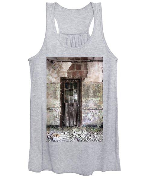 Old Door - Abandoned Building - Tea Women's Tank Top