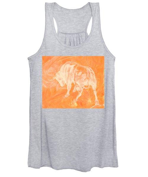 Orange Bull Negative Women's Tank Top