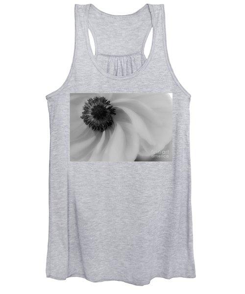 Orange Flower In Black And White Women's Tank Top