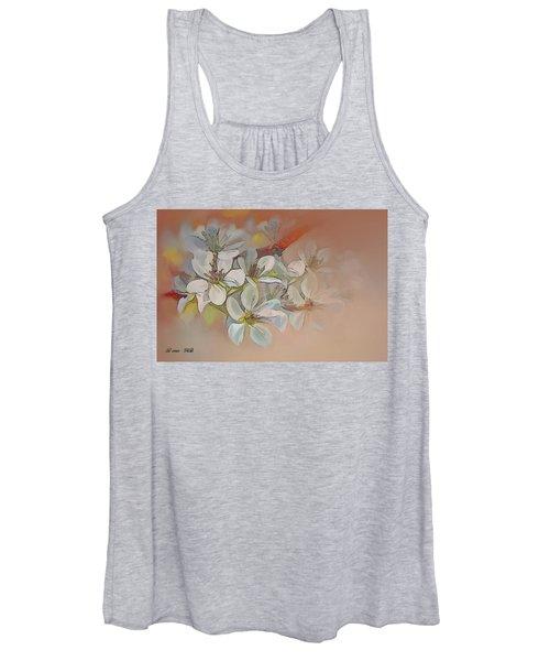 Oriental Pear Blossom Branch Women's Tank Top