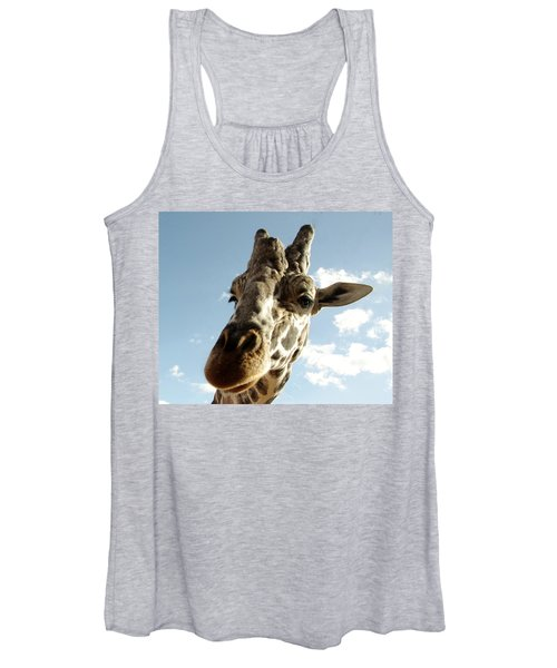 Out Of Africa  Reticulated Giraffe Women's Tank Top