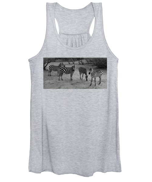 Out Of Africa  Zebras Women's Tank Top