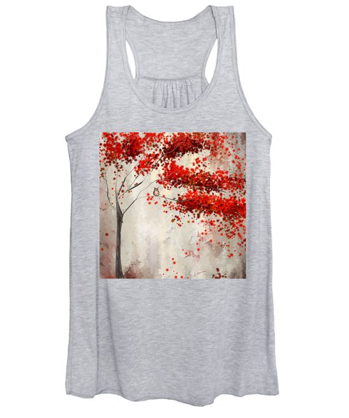 Owl In Autumn Women's Tank Top