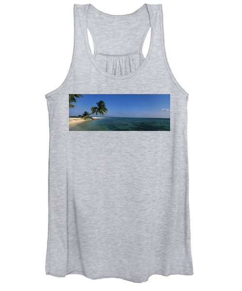 Palm Tree Overhanging On The Beach Women's Tank Top