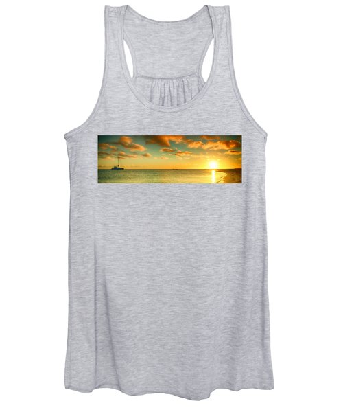 Panoramic Photo Sunrise At Monky Mia Women's Tank Top