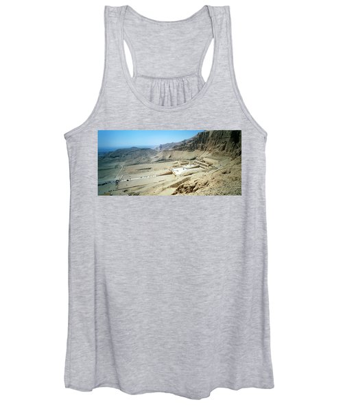 Panoramic View Over Hatschepsut Temple Women's Tank Top