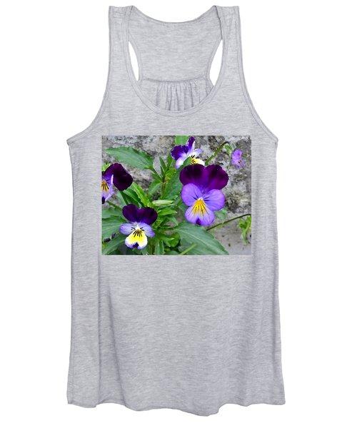 Pansies - Painterly Women's Tank Top