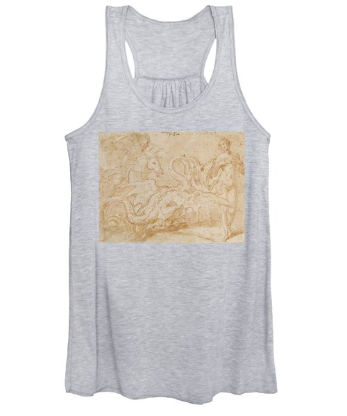 Perseus Rescuing Andromeda Red Chalk On Paper Women's Tank Top