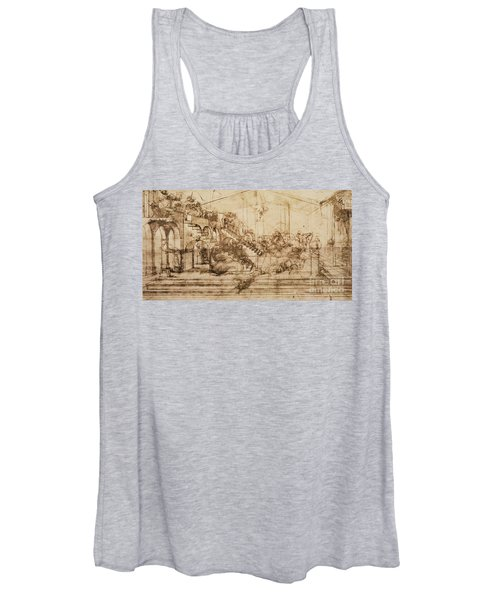 Perspective Study For The Background Of The Adoration Of The Magi Women's Tank Top