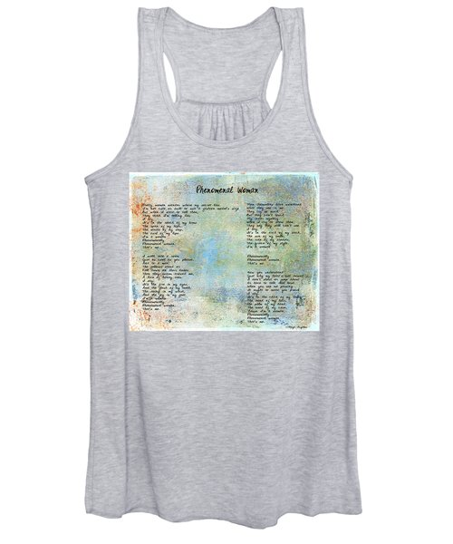 Phenomenal Woman - Blue Rustic Women's Tank Top