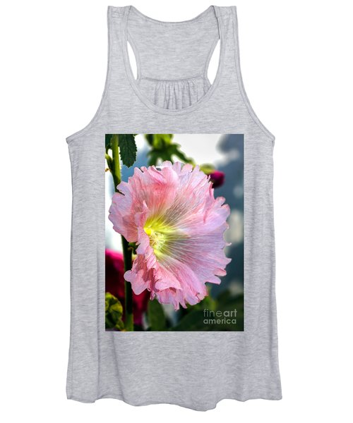 Pink Hollyhock Women's Tank Top