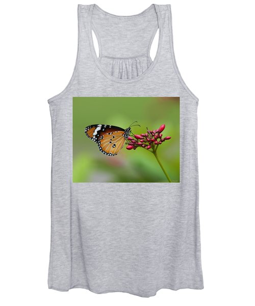 Plain Tiger Or African Monarch Butterfly Dthn0008 Women's Tank Top