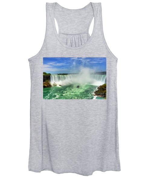 Point Of Land Cut In Two.. Women's Tank Top
