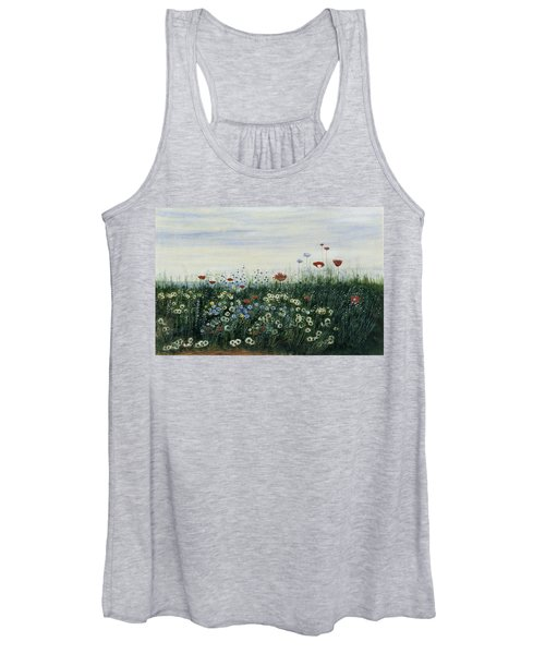 Poppies, Daisies And Other Flowers Women's Tank Top