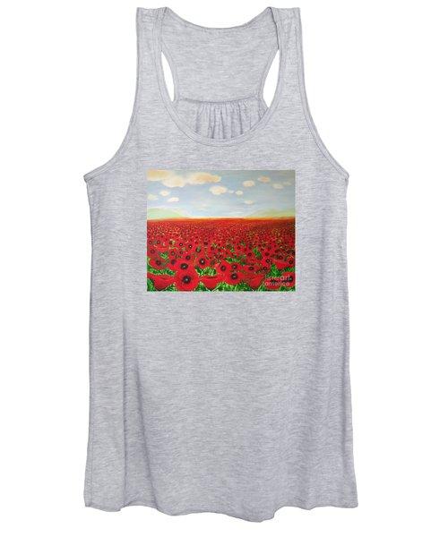 Poppy Fields Women's Tank Top