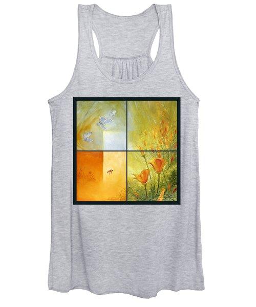 Poppy Pollination Women's Tank Top