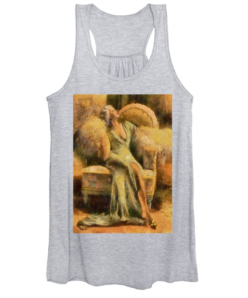 Portrait Of Jean Harlow Women's Tank Top