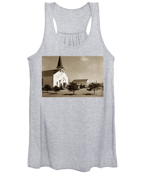 Post Chapel And Red Cross Building Fort Ord Army Base California 1950 Women's Tank Top