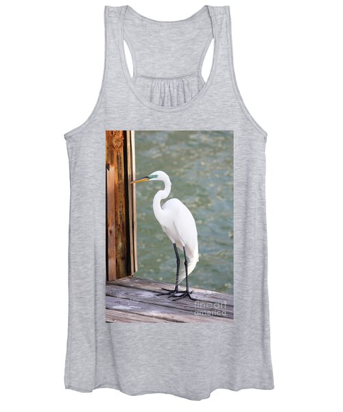 Pretty Great Egret Women's Tank Top