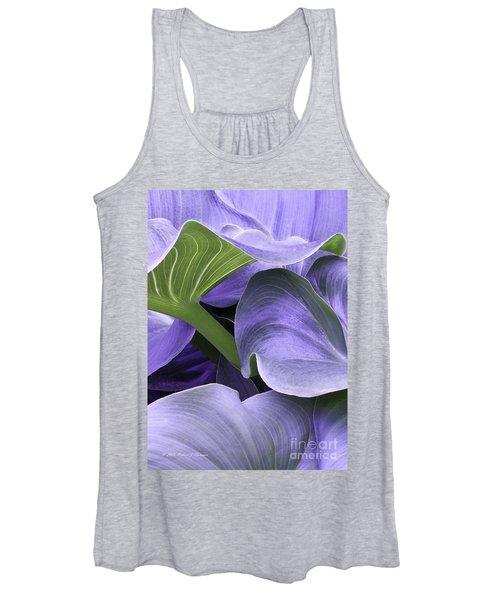 Purple Calla Lily Bush Women's Tank Top