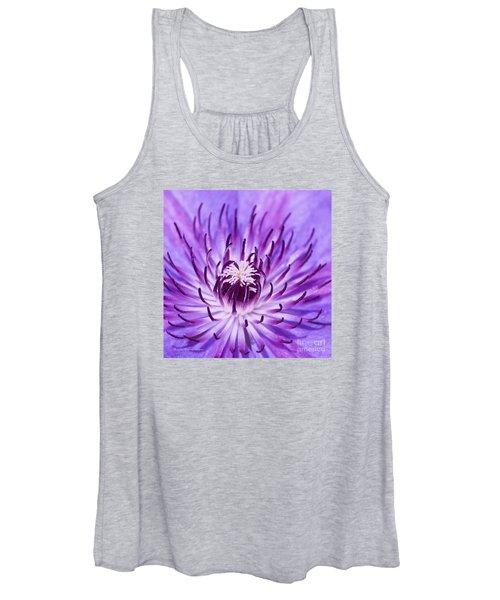 Purple Clematis Women's Tank Top