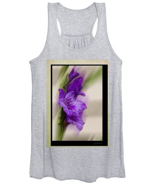 Purple Gladiolus Bloom Women's Tank Top