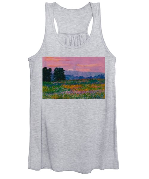 Purple Sunset On The Blue Ridge Women's Tank Top