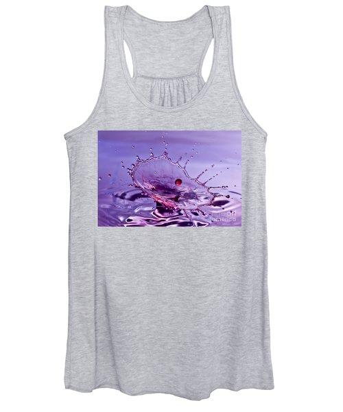 Purple Water Splash Women's Tank Top